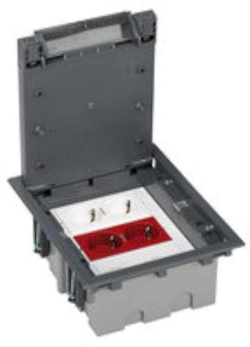 Simon 52006305-030 - Kit Caja De Suelo Sai Simon 500 Cima 3 Módulos Con