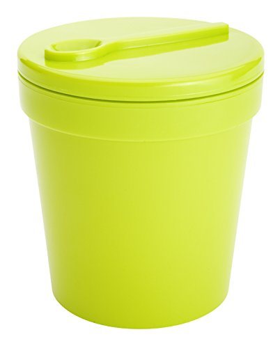 Insulated Ice Cream Container, Kiwi Green, fits 1-pint