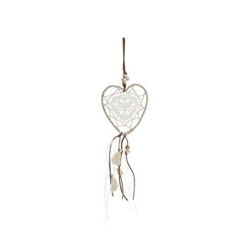 Wind Chime Outdoor Dream Catcher Girl Heart Feather Wind Chime Hanging Mori Room Bedroom Decoration Shop Flapping Dream Bell Pendant Garden (Color : D)