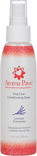 Aroma Paws Scented Dog Coat Spray - Cleansing, Conditioning, Moisturizing - Toxin Free, Healthy Ingredients - Aromatic Grooming Puppy Spray - Loosens Knots, Tangles - 4.5 Oz, Lavender Chamomile