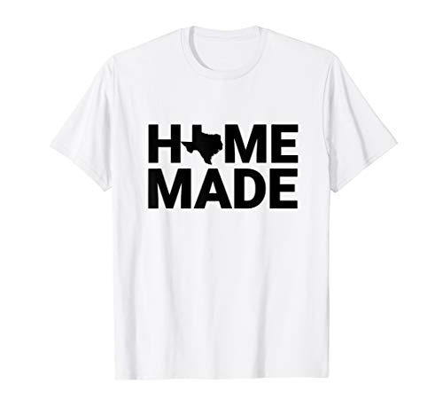 Texas Homemade State Outline T-Shirt