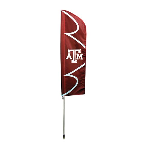 Ncaa Kit Party (Party Animal Texas A&M Aggies NCAA Swooper Flag and Pole)