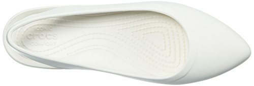 Crocs Mujer's Eve Slingback Ballet Flat Oyster