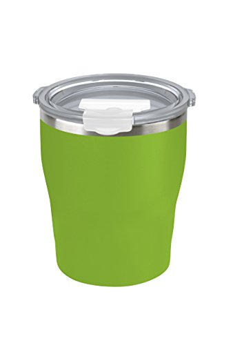 Tahoe Trails 10 oz Stainless Steel Tumbler Vacuum Insulated Double Wall Travel Cup With Lid, Green