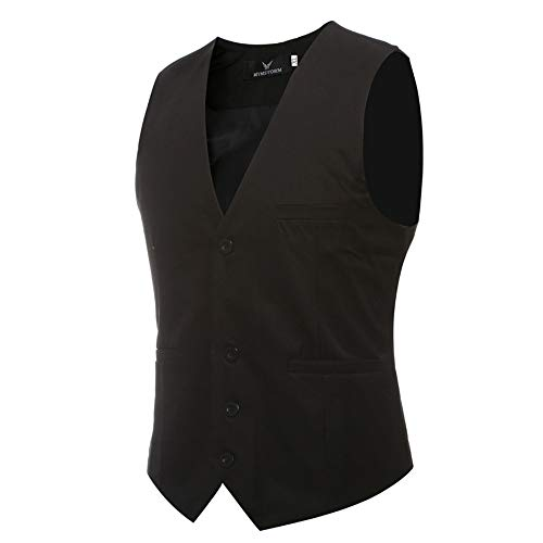 Formelle Gilet De Pour Homme Vin Élégant Hommesgilet Costume Veste Slim Gentleman Rouge EUwARq