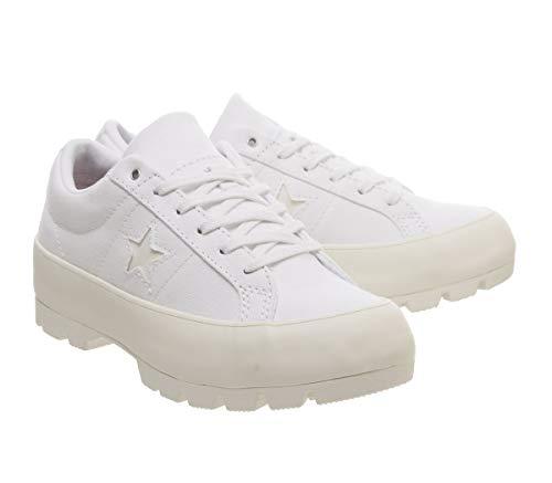 Donna Star egret Lugged Egret Ox Sneaker Bianco Converse One White 5twAqH