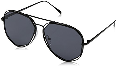 A.J. Morgan Diamond Bar Aviator Sunglasses, Black, 56 - Aviator Diamond Sunglasses