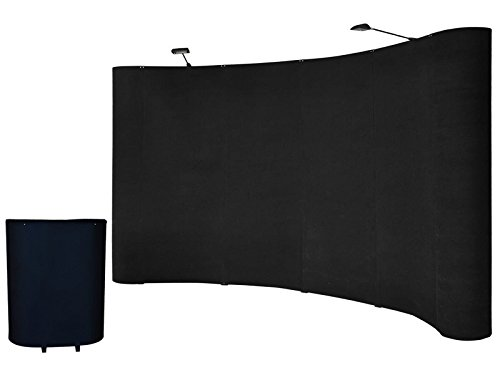 Goplus 10'ft Portable Black Display Trade Show Booth Exhibit Pop up Kit W/spotlights by Goplus