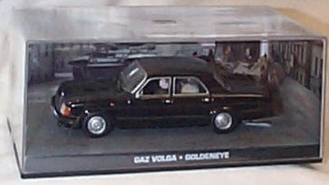 james bond 007 goldeneye gaz volga film scene car 1.43 scale diecast model by James Bond