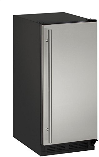 """U-Line UCLR1215S00B 15"""" Undercounter Clear Ice Maker, Stainless Steel"""