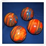 Premium Quality EPCO 4 Ball 107mm Tournament Bocce Set - Marbled Orange/Blue/Yellow [Toy]