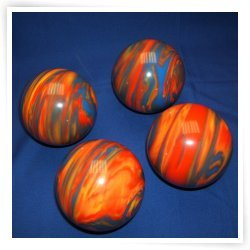 Premium Quality EPCO 4 Ball 107mm Tournament Bocce Set - Marbled Orange/Blue/Yellow [Toy] by Epco