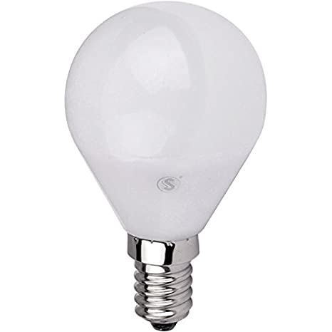Lámpara Bombilla ESFERICA LED 5W E14,Color de Temperatura 3000K Cálida ,Dimensiones: Ø45X80mm: Amazon.es: Iluminación