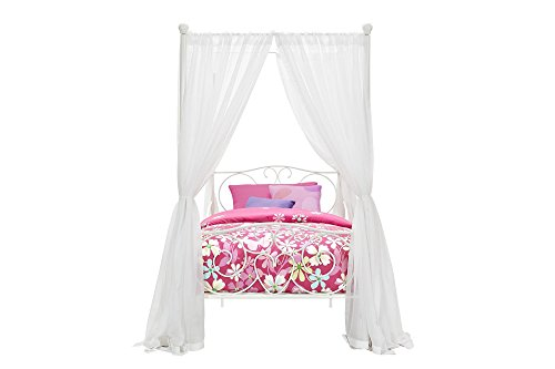31Z5y3j1mlL - DHP Canopy Bed with Sturdy Bed Frame, Metal, Twin Size - White