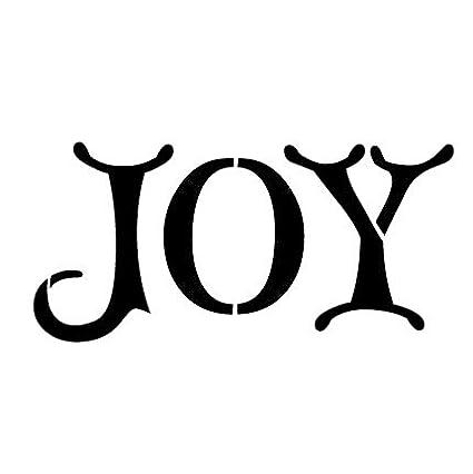 amazon com joy stencil by studior12 elegant christmas word art