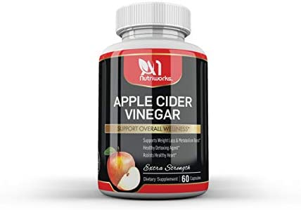 Apple Cider Vinegar Supplement 60 Capsules - Extra Strength 1300mg - ACV Pills for Digestion, Detox & Immune Support - All Natural Apple Cider Cleanse & Immunity Booster 2