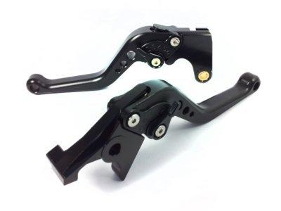 POWTEC PTB-092 Adjustable short Brake and Clutch Levers for HONDA CB1000R-COMPLETE BLACK