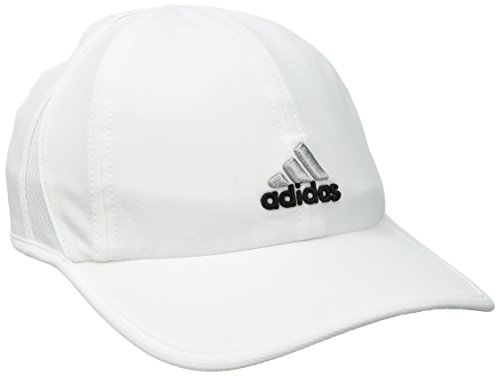 (adidas Women's Adizero Relaxed Adjustable Performance Cap, White/Black, One Size)