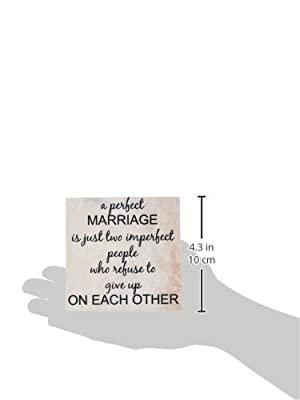 Xander inspirational quotes - a perfect marriage, black lettering on picture of marble print background - Tiles