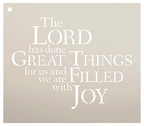 The Lord Has Done Great Things Stencil by StudioR12 | Reusable Mylar Template | Use to Paint Wood Signs - Pallets - Pillows - DIY Faith Decor - Select Size (11