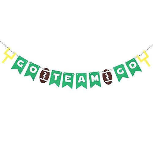 Board Stick - 3 Meters Go Team Football Party Banners Rugger Bunting Garland 12 Flags Birthday Decor - Football Flag Flags Garland Banners Streamers Confetti Decor Soccer Child Rugby Game Bi