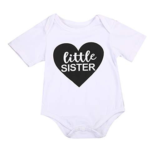 Family Clothes, Family Matching Outfits Baby Kids Girl Littler/Big Sister Casual Cotton Romper T Shirt Tops Family Set 7T -