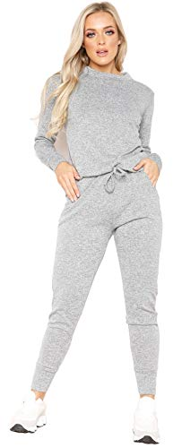 Womens Long Sleeve Loungewear Ladies Two Piece Co ord Set Tracksuit