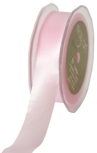May Arts 1-Inch Wide Ribbon, Pink Satin