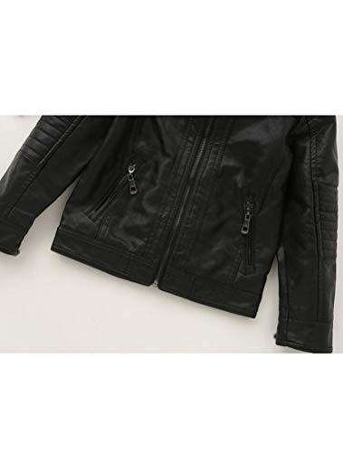 Amazon.com: mallimoda Boy s Trendy stand-collar Piel ...