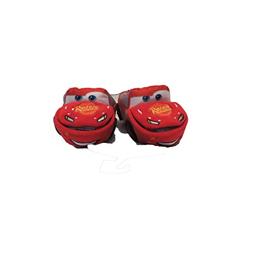 Disney Cars McQueen Slippers - Lift Hood to See What's Inside - Toddler Boys Bootie Slippers (Toddler 5-6) Red]()
