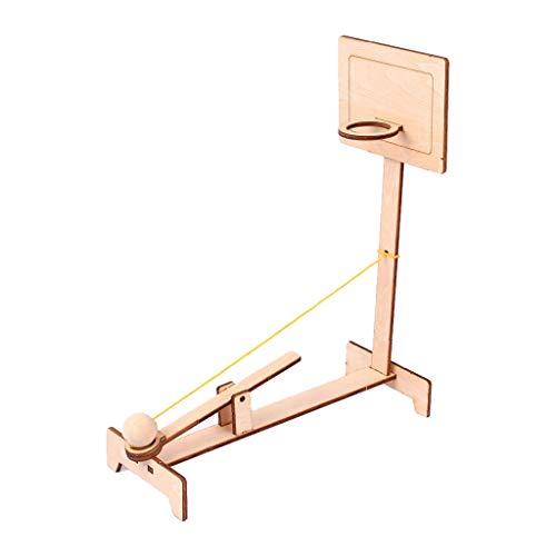 KESOTO Juguete de Máquina de Tiro de Baloncesto Madera Ensamblado ...