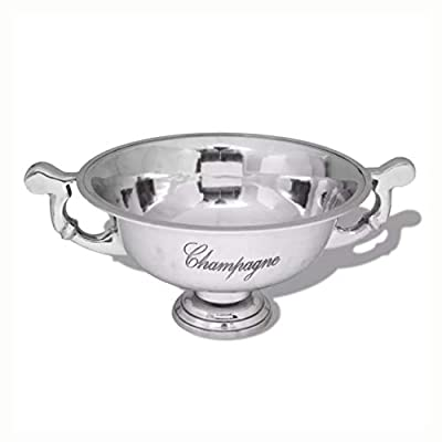 HomyDelight Sculpture & Statue, Trophy Cup Champagne Cooler Aluminum Silver