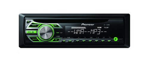 Pioneer DEH-150MPG CD RDS Tuner with WMA/MP3 Playback and Front Illuminated Aux-in (Green) (Rds Pioneer)