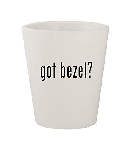 got bezel? - Ceramic White 1.5oz Shot Glass
