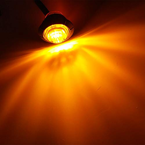 Baby Bullet Amber Led - METALSTORE- 2X Waterproof 12V 3LED 3/4