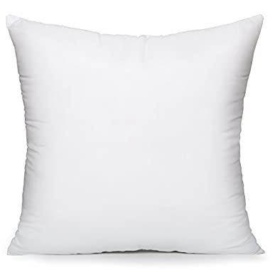 Acanva Hypo-Allergenic Pillow Insert Form Cushion Sham Stuffer, Square, 26  L x 26  W