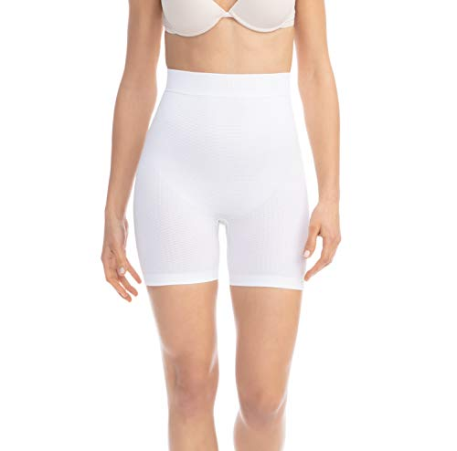 - FarmaCell 302 (White, L/XL) Women's Push-up Anti-Cellulite Control mid-Thigh Shorts