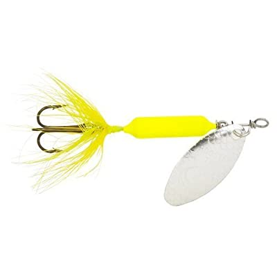 Yakima Bait Wordens Original Rooster Tail Spinner Lure, Fluorescent Chartreuse, 1/4-Ounce by Yakima Bait