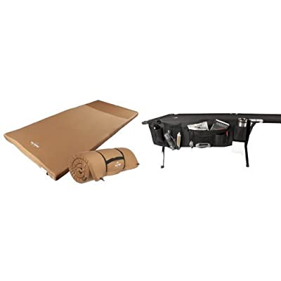 TETON Sports Outfitter XXL Camp Pad, Extra Large Sleeping Pad Perfect for Base Camp, Camping and Hunting and TETON Sports Cot Organizer; Great Camping and Hunting Gear Bundle