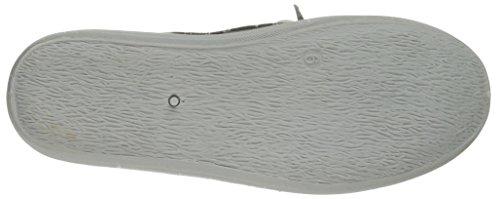 Scarpa Da Barca Casual In Tela Da Donna Grigio-12