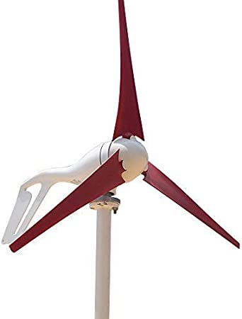 Marsrock Light and Powerful Small Three Colors 3 Blade 400W Wind Turbine Generator Kit AC 12V//24V with Windmill Generator Controller for Home Use 12V-Black