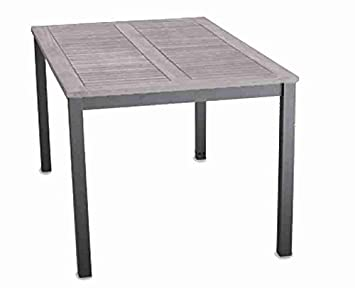 Outstanding Garden Line Aluminium Garden Table With Wood Top Amazon Co Bralicious Painted Fabric Chair Ideas Braliciousco