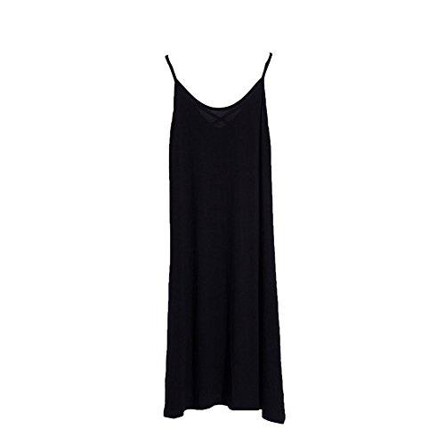 Women Sleepwear Plus Size Sleeveless Pajama Loose Dress Sexy Nightgown Lounger by LONTG