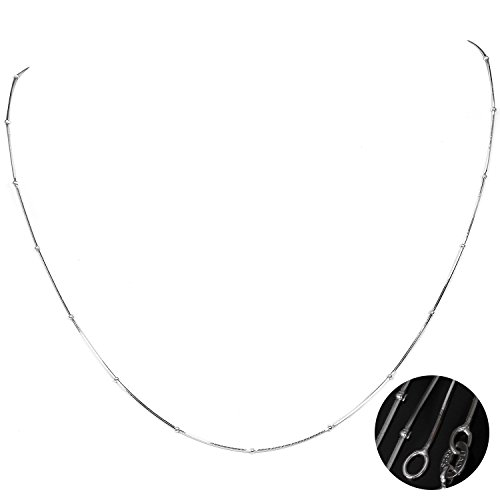 925 Sliver Necklace Women Jewelry fashion silver snake chain - 6
