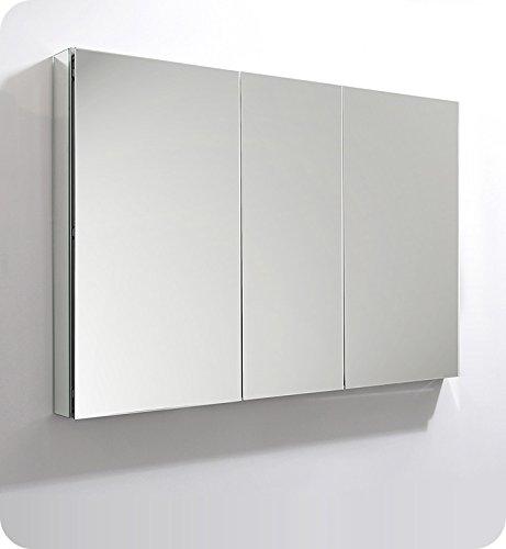 Fresca 50 inch Wide x 36 inch Tall Bathroom Medicine Cabinet -
