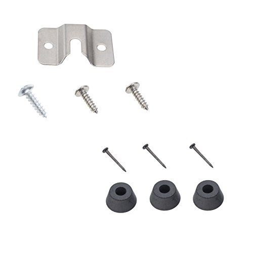 TenCloud 10 Pieces Wall Steel Bracket and Screws Hardware Kit Replacement for Mounting -