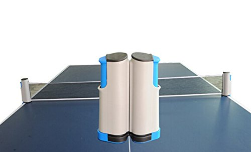 Natuworld Adult Youth Unisex Retractable Table Tennis Net and Post Set, Portable Ping Pong Accessory by Natuworld
