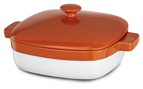 KitchenAid KBLR42CRPN Streamline Ceramic 4.2-Quart Casserole Bakeware - Persimmon by KitchenAid