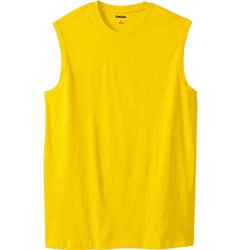 KingSize Men's Big & Tall Lightweight Muscle T-Shirt, Cyber Yellow Tall-XL
