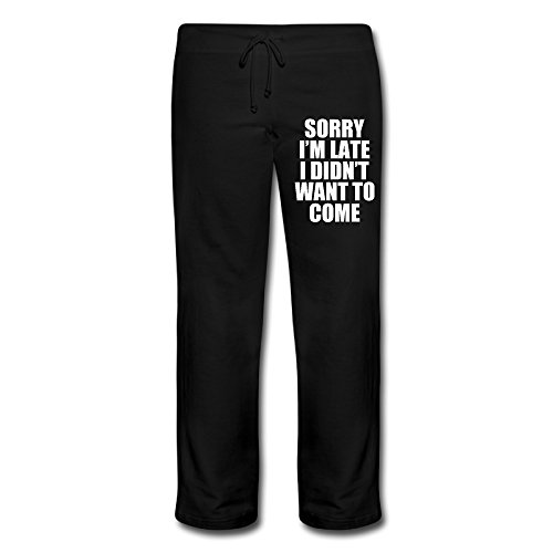 [Wesley Sorry I'm Late I Didn't Want To Come Women's Athletic Yoga Pant Black M] (Lone Ranger Costume Shirt)